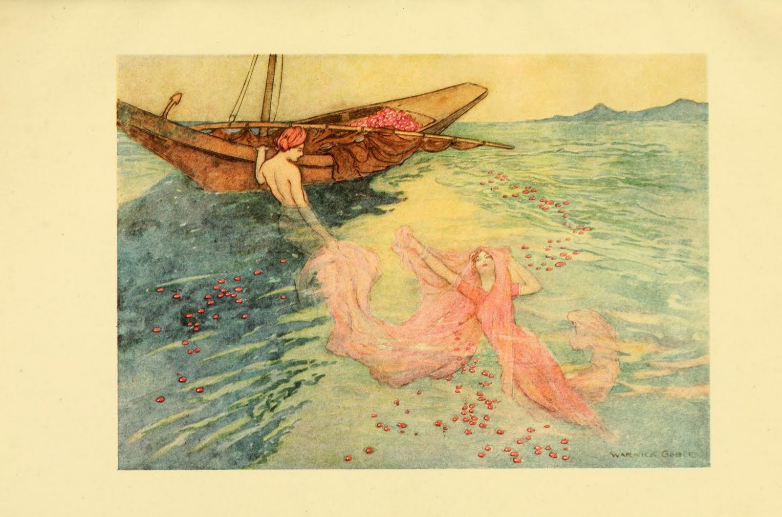 Illustration For Quot The Origin Of Rubies Quot By Warwick Goble