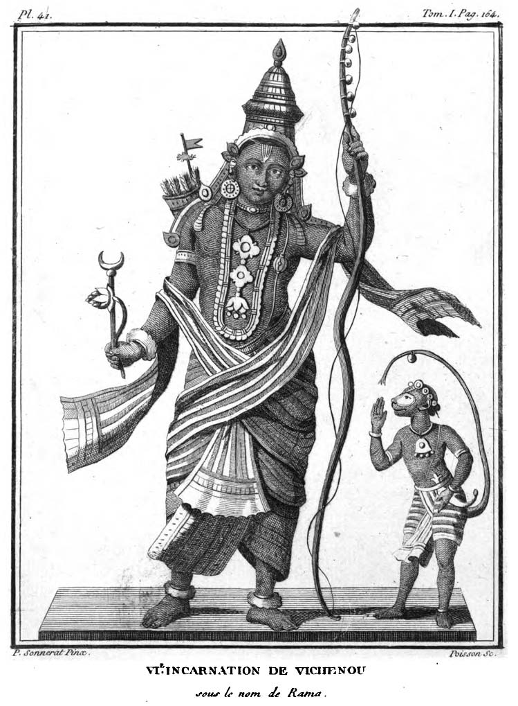 Illustrations of Hindu Gods from the book
