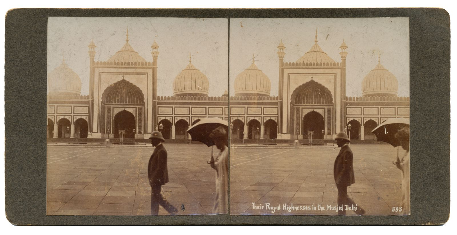 The Royal Highnesses in the Masjid Delhi 1905-06