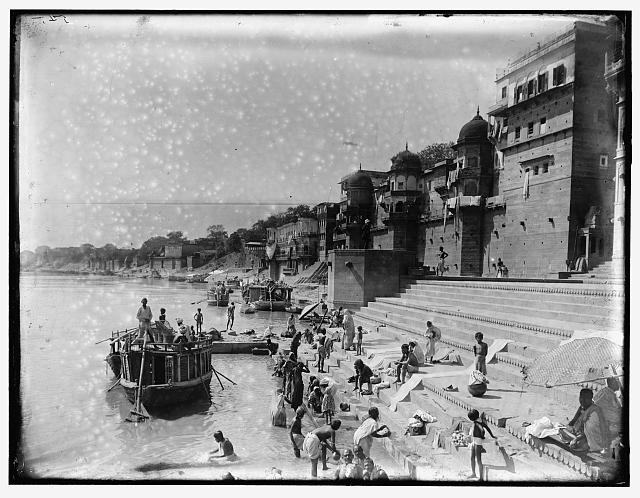 Bathing in the Ganges, India - Varanasi (Benares) 1895