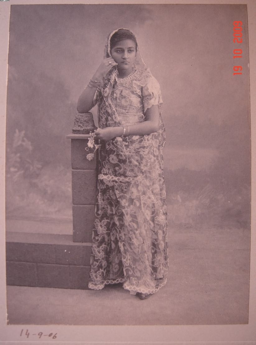 Indian Lady in Saree - Studio Photo