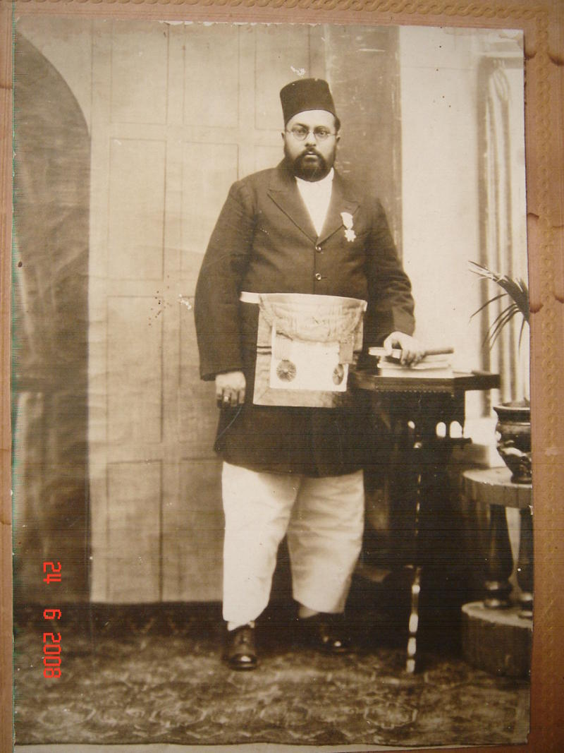 Muslim Gentleman with Medal - Vintage Indian Photo