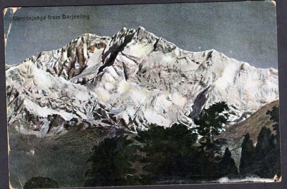 Postcard of Kangchenjunga - Darjeeling 1907