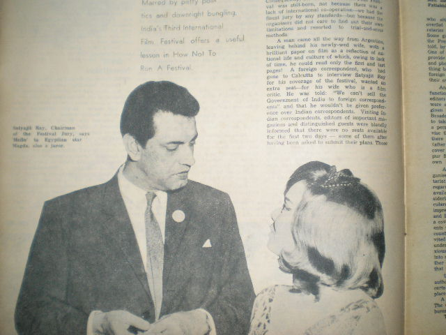 Satyajit Ray - From 1965 Filmfare Magazine