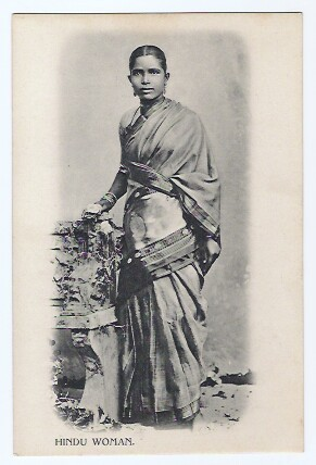 Vintage Postcard of a Hindu Woman