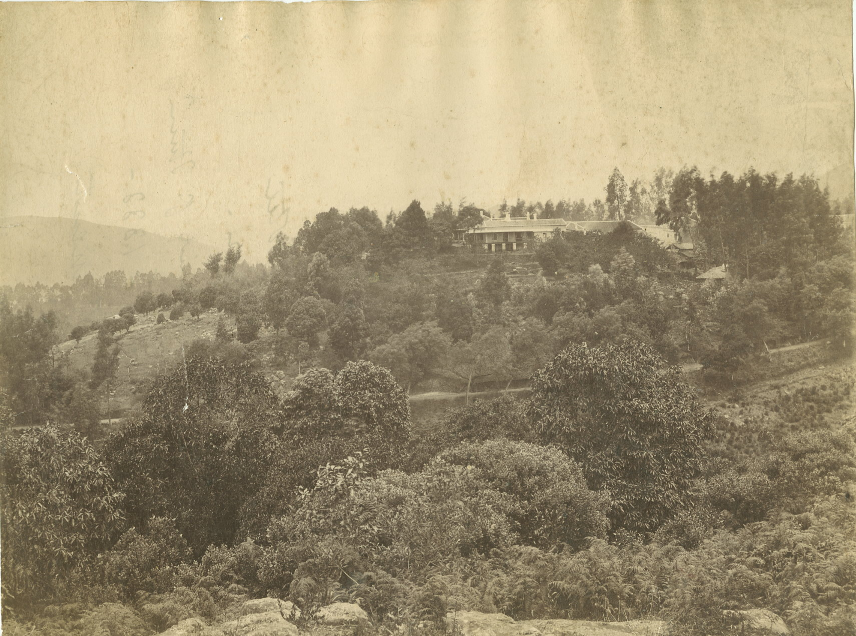 Vintage Photograph of Glenview Hotel - Coonoor, Tamil Nadu- Circa 1888