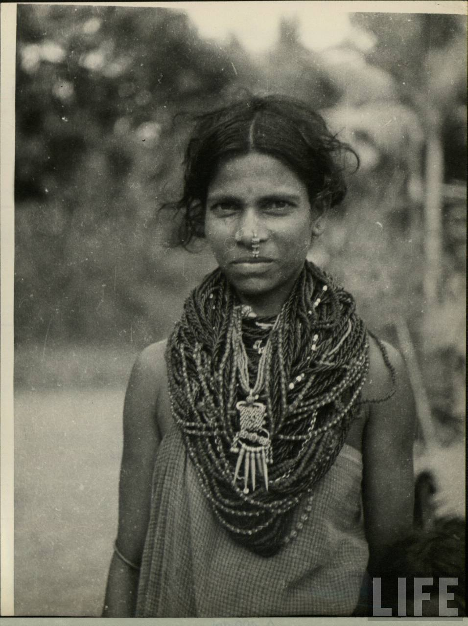 Portrait of an Indian Tribal Woman in Costume