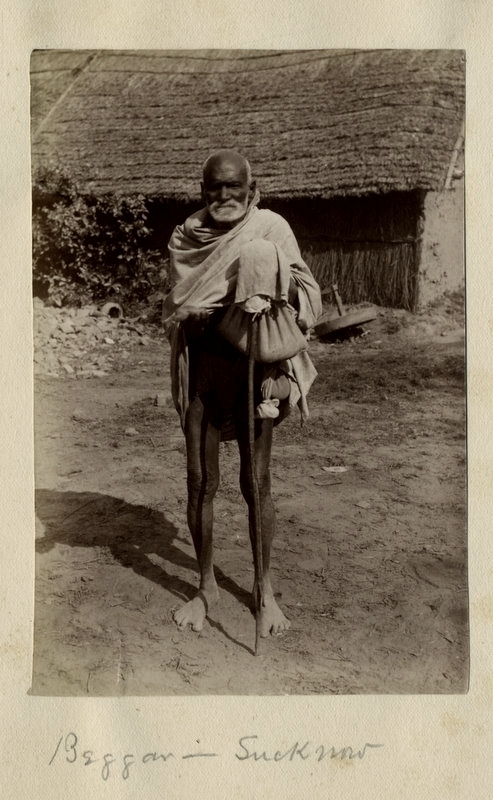 Old Indian Beggar - Lucknow 1880's