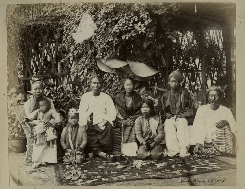Vintage Photograph of a Burmese Family - 1880's