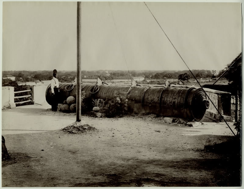 The Big Gun - Tanjore (Thanjavur) 1880's