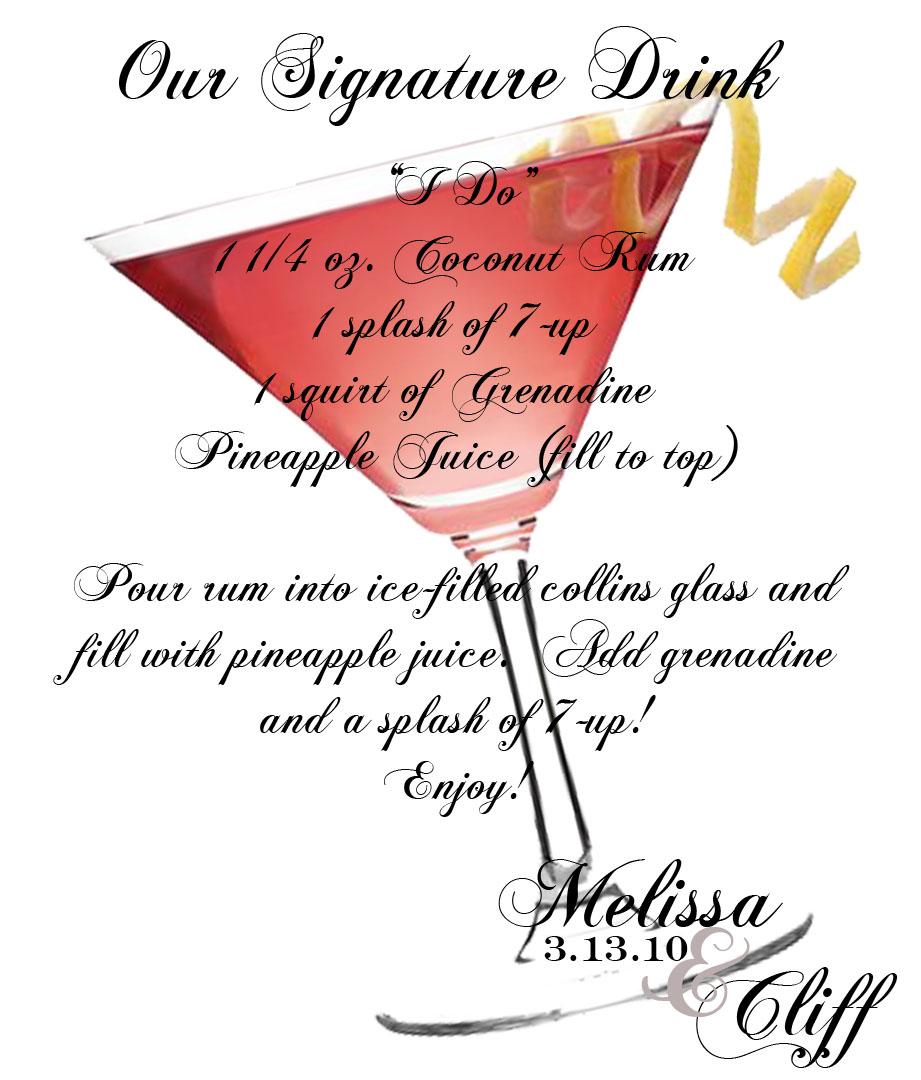 Memories Of Today: Signature Drinks
