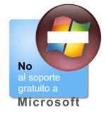 No al soporte gratuito a Microsoft