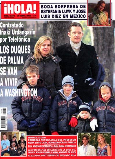 Los Duques de Palma se van a vivir a Washington