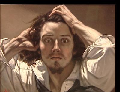GUSTAVE COURBET -AUTOPORTRAIT -Le désespéré - 1845