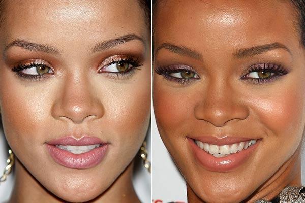 Maquiagens pele morena Rihanna