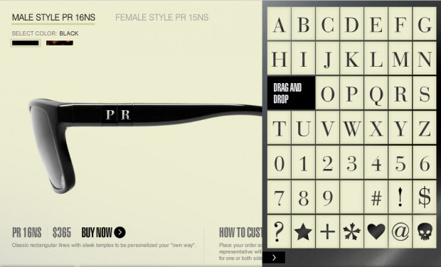 f5cb2be96294 Prada private has its own line of customized sunglasses... just go to  www.sunglasshut.com