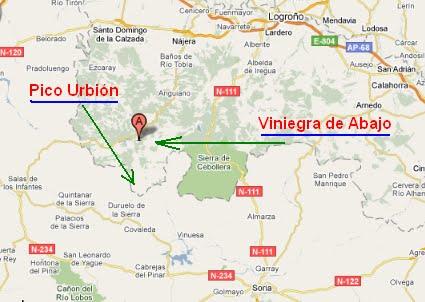 Viniegra De Abajo Mapa.Paseos Por Las Montanas 34 Pico Urbion Por Viniegra De Abajo