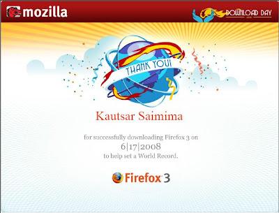 Terima kasih deh buat Mozilla, biarpun tidak mendapatkan penghargaan
