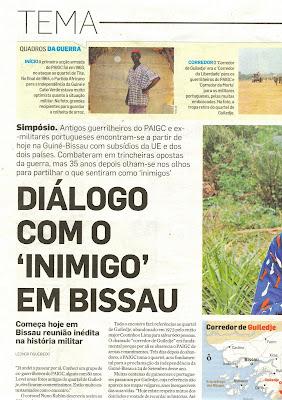 Guiné 63 74 - P2599  Recortes de imprensa (2)  O Simpósio de Guileje visto  hoje pelo Diário de Notícias (Virgínio Briote) 1bd231111f2