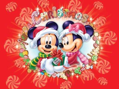 slike čestitke za božić i novu godinu Božićne slike i e card čestitke: Mickey i Minnie Mouse ti žele  slike čestitke za božić i novu godinu