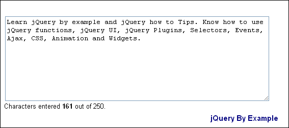 Set Max Length for ASP NET MultiLine Textbox using jQuery