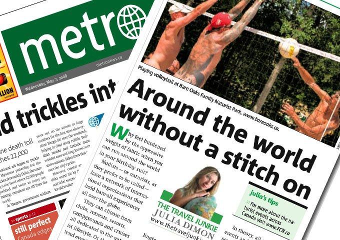 Bare Oaks in Metro Newspapers