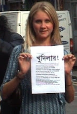 No to Crossrail hole - a resident in the Brick Lane E1 area with KHOODEELAAR! No to Crossrail...
