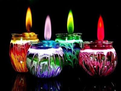 candle1 Fogo colorido   Curiosidades