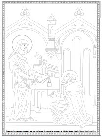 Our Lady of Mt. Carmel Coloring Sheets
