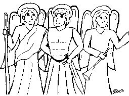 feast of the guardian angels coloring pages - catholic icing celebrate michaelmas st michael and all