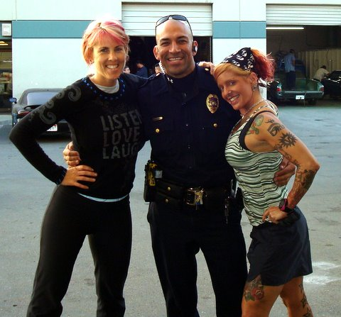 expect him to be a Police officer. He's totally Tattooed and crazy.
