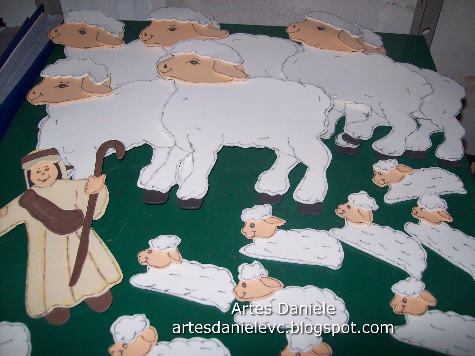 Artes daniele pastor e ovelhas em eva for Mural de isopor e eva
