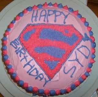 Gillians Cool Custom Cakes Supergirl Syds Birthday Cake