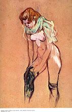 Donna che si infila una calza. Toulusse-Lautrec