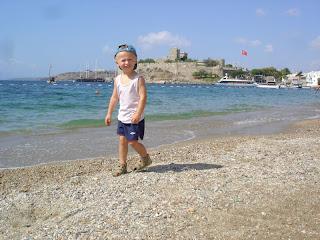 jest morze i piaseczek i piękny background