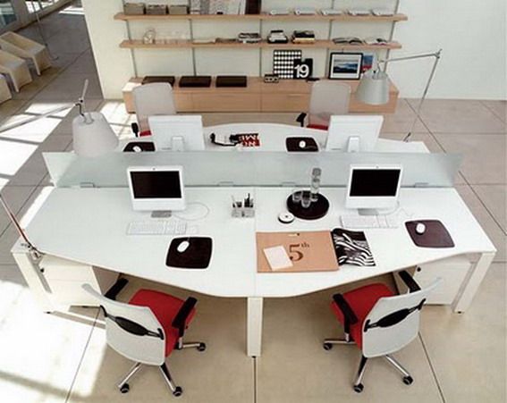 Home interior and exterior design office design ideas and for Office desk layout ideas