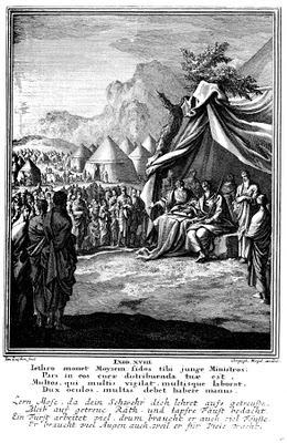יתרו מבקר את משה