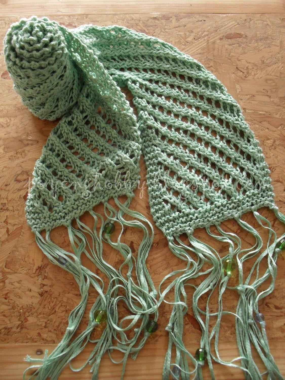 Ajeng Belajar Merajut Rajut Free Knitting Pattern Diagonal Lace Scarf