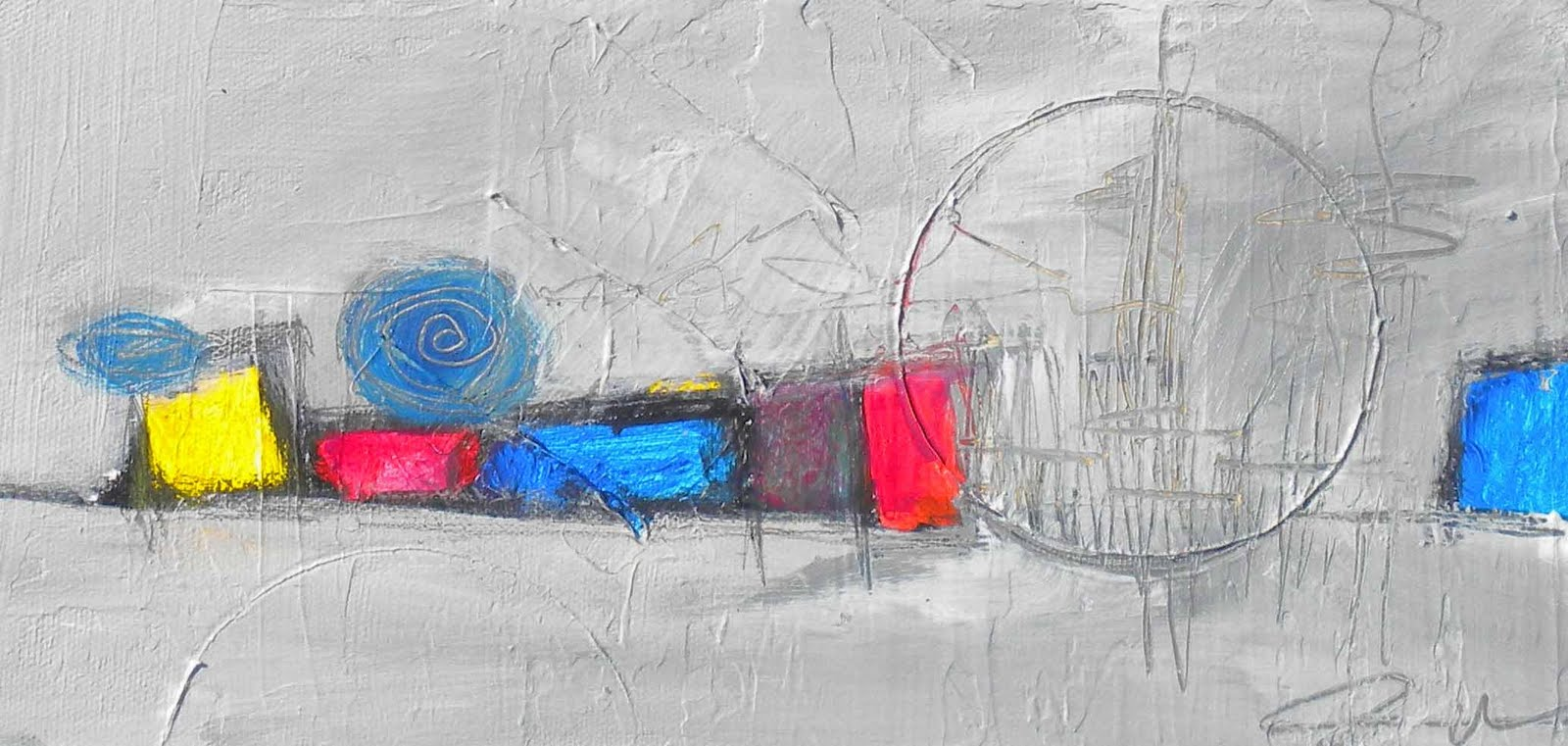 Daily Painters Abstract Gallery: Urban Snowstorm -- Modern ...