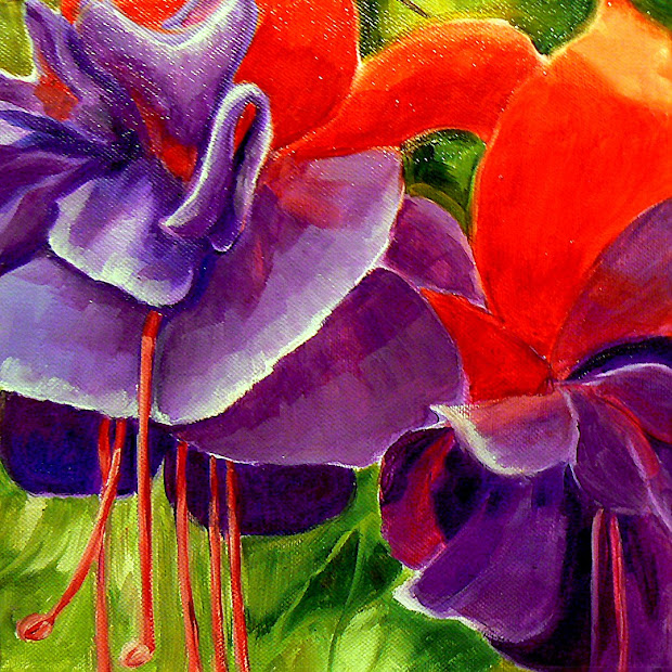 """Daily Painters Abstract """"fuchsia"""" Painter"""