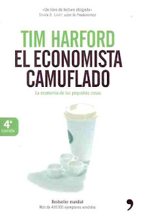 Portada de 'El economista camuflado', de Tim Harford