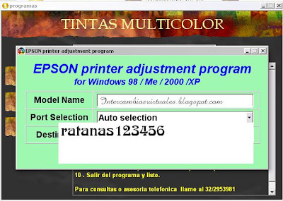 Reseteador de Impresoras Epson - IntercambiosVirtuales