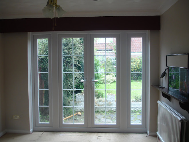 Inside View French Doors with Astrigal Bar