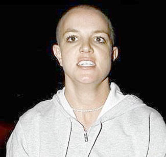 Britanny spears with a shaved head