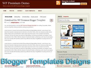 three column WP Premium Template