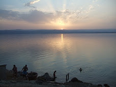 The sunset on Dead Sea at Jordan side