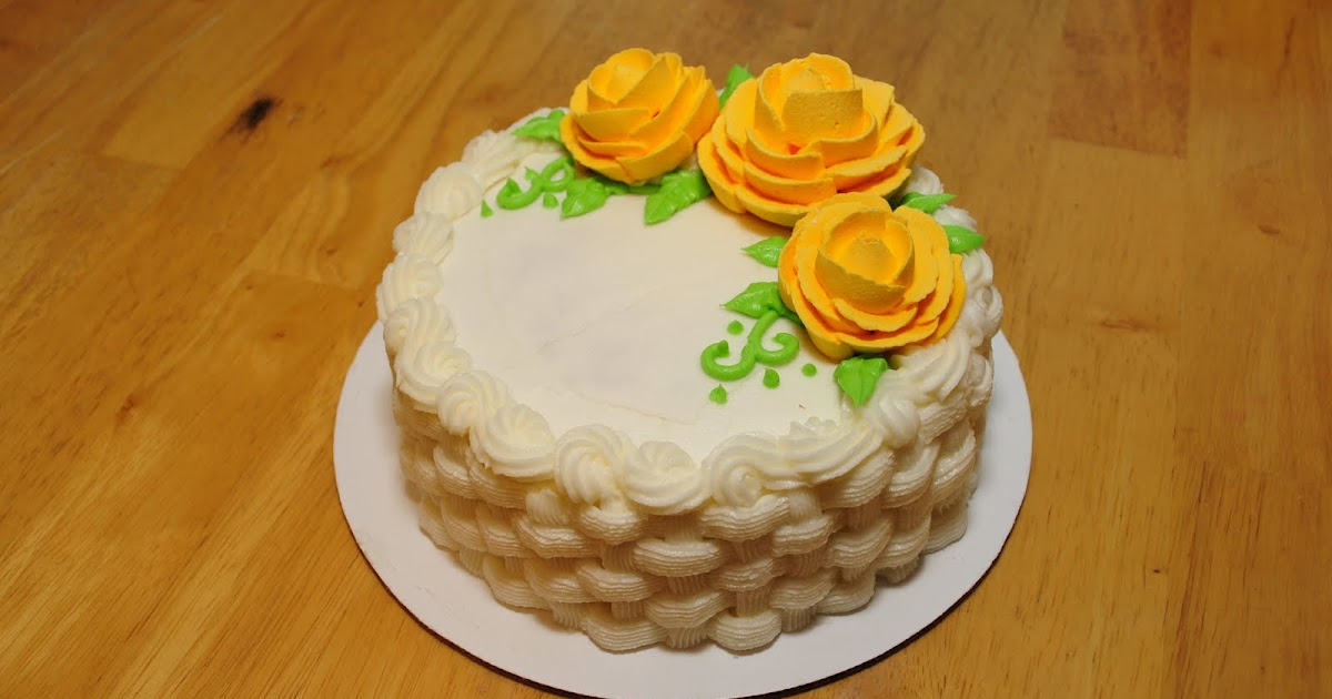 Lindsay S Custom Cakes Basket Weave Cake