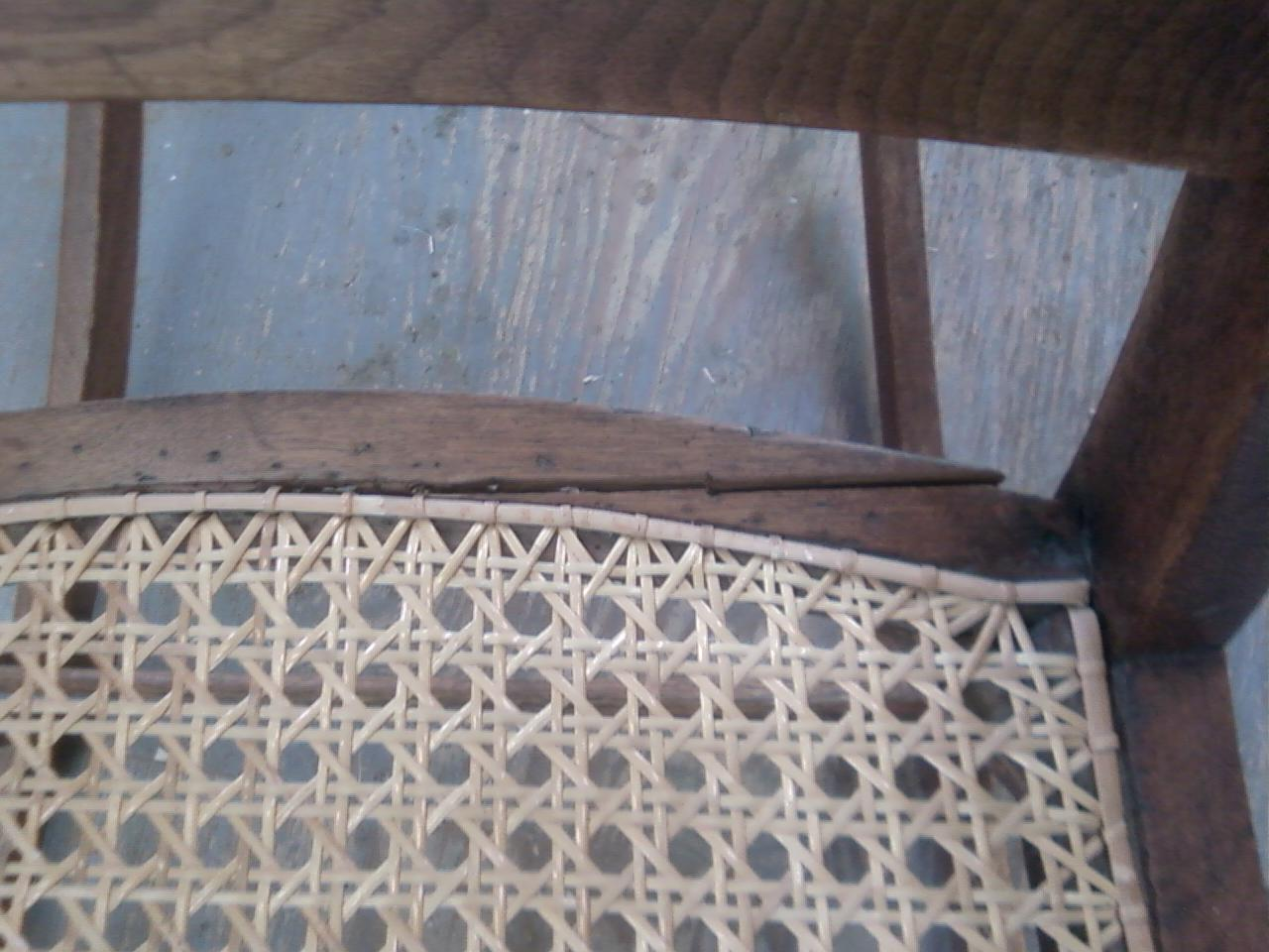 Repairing Cane Seat Chairs Paula Deen Table And John Mark Power, Antiques Conservator: Walnut Rocker With Back (ca. 1860)