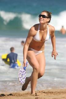 Jessica Biel White Bikini 34