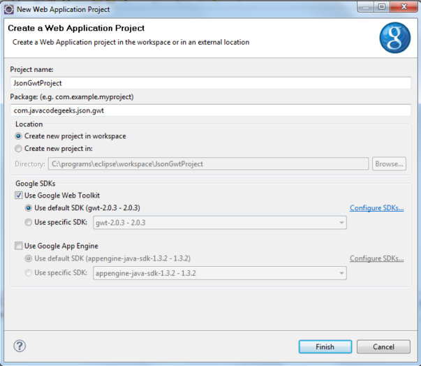 Add JSON capabilities into your GWT application   Java Code